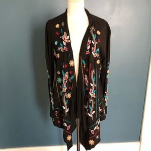 Caite Embroidered Cardigan